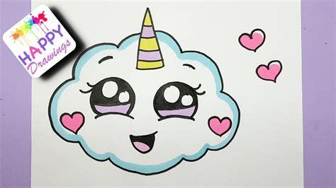 How To Draw A Super Cute Cloud Emoji Unicorn