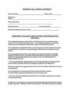 assembly hall rental contract in word and pdf formats With banquet hall contract template