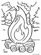 Coloring Camping Campfire Fire Printables Printable Colouring Preschool Timvandevall Activity Tim sketch template