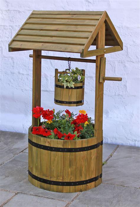 wooden decorative wishing planter hm dcm