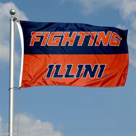 illinois fighting illini large outdoor flag