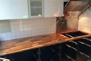 renovation de cuisine avec plan de travail en chene par gerard With plan de travail cuisine chene