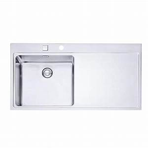 Evier 1 Bac Inox Sans Egouttoir : evier en inox de marque franke mythos 1 grand bac avec ~ Premium-room.com Idées de Décoration