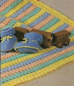 Baby Booties And Blanket Afghan Digest Size Crochet