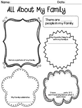 all about my family worksheet by sue twisselmann creations