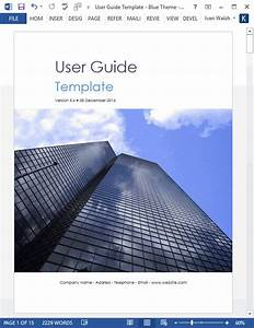 User Guide Templates  Forms  And Checklists  U2013 Technical