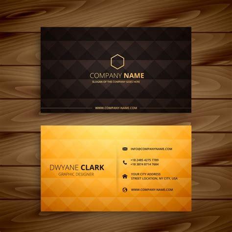 diamond shapes golden business card vector