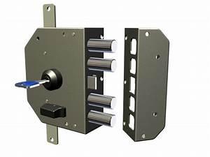 serratura di sicurezza Sinistra CR 3250 K55 60 mm a pompa ad applicare Chiavi e serrature