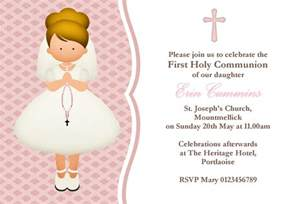 1st communion gifts for boys personalised communion invitations girl new design 4