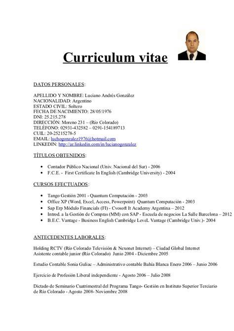 Modelo De Curriculum Vitae Basico En Ingles Example Good Resume
