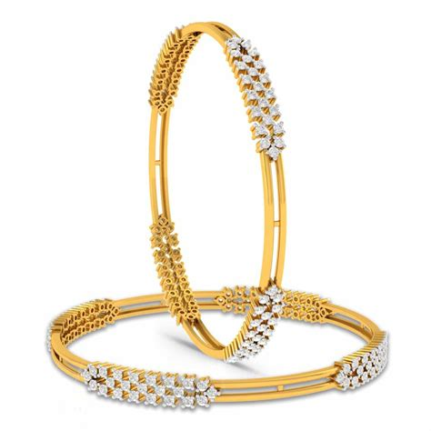 Gifted Aura Diamond Gold Bangles  Charu Jewels. Unique Beads For Jewelry Making. Festival Bracelet. Ornate Rings. 10k Pendant. Gold And Diamond Band. Diamond Ring Designs. Diamond Eternity Band Thin. Marquise Cut Rings