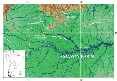 map  western amazon basin showing  collection