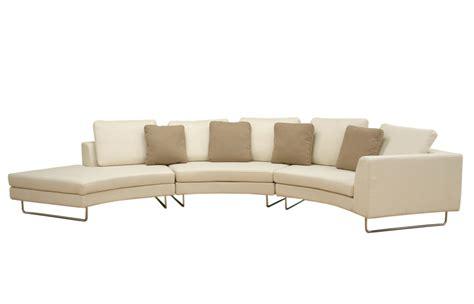 curved sofas baxton studio baxton studio lilia curved 3 piece tan fabric modern sectional sofa by oj commerce