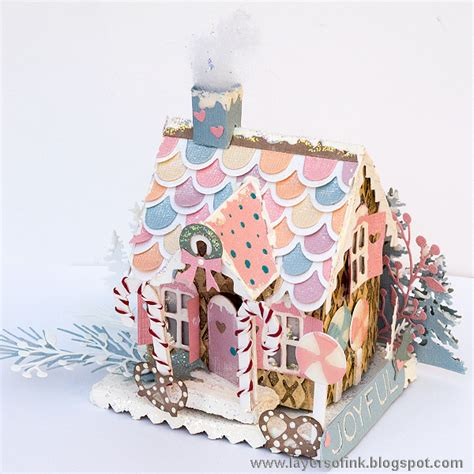 Layers Of Ink Pastel Paper Gingerbread House Tutorial