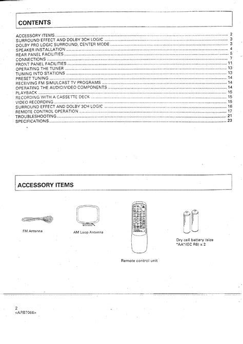 PIONEER VSX425 - Owner's Manual Immediate Download