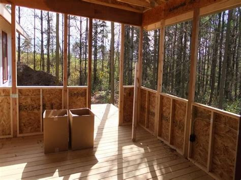 Closed Patio Design by Screened Porch Made From Pallets Ideas Closed In Porch