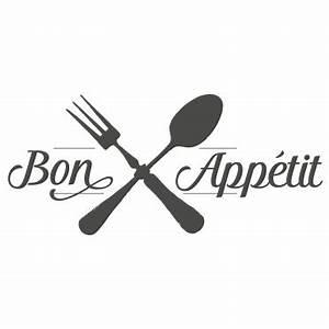 Couvert De Cuisine : sticker cuisine bon app tit couverts crois s ~ Teatrodelosmanantiales.com Idées de Décoration