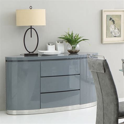 pendant lighting modern cruise modern sideboard in grey high gloss with 3 drawers