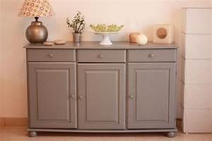 Repeindre meuble en bois avec peinture casto gris gris 2 for Deco cuisine avec meuble et table de salle a manger