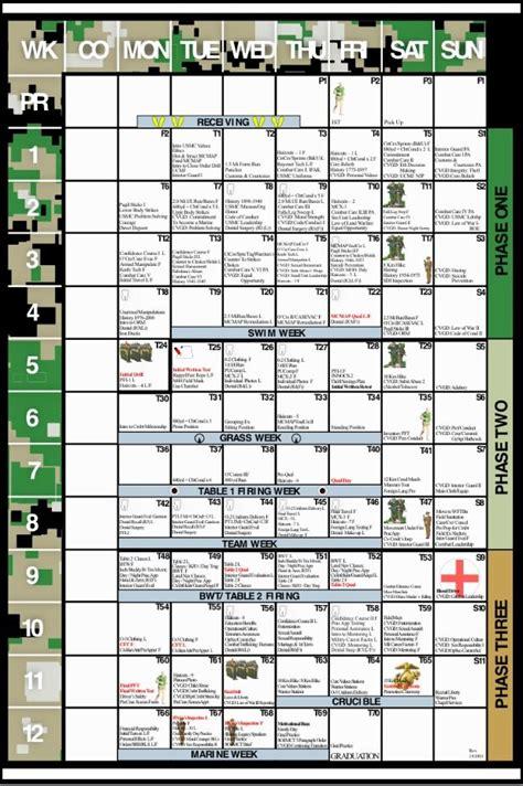 marine corps boot camp calendar httpwwwmcrdpimarines