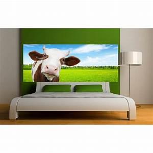 Tete De Vache Deco : stickers t te de lit vache art d co stickers ~ Melissatoandfro.com Idées de Décoration