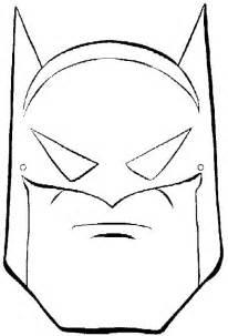 Printable Batman Mask Coloring Pages