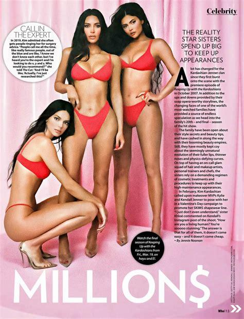 Kim Kardashian, Kendall and Kylie Jenner in Who Magazine ...