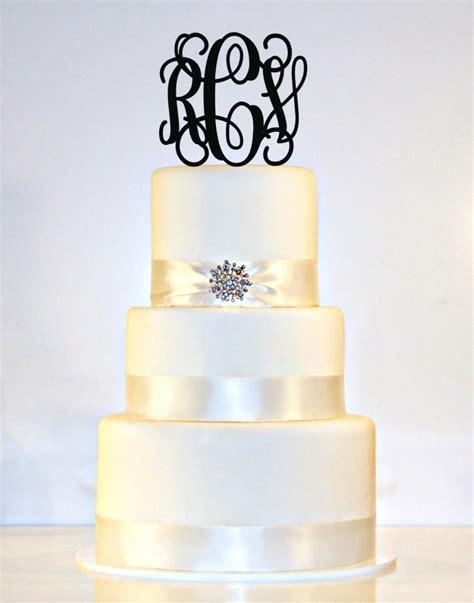 5 quot personalized custom wedding monogram cake topper