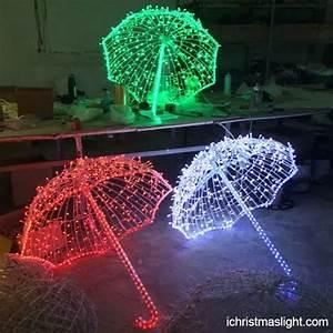 Christmas party decor LED motif umbrella iChristmasLight