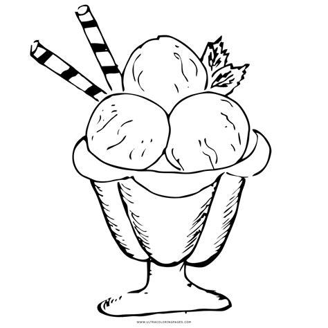 Helado Kleurplaat sundae de sorvete desenho para colorir ultra coloring pages