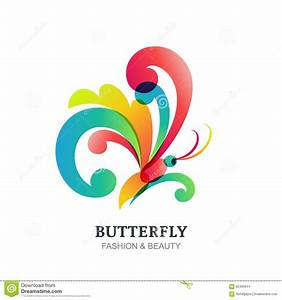 Vector Illustration Of Colorful Transparent Butterfly