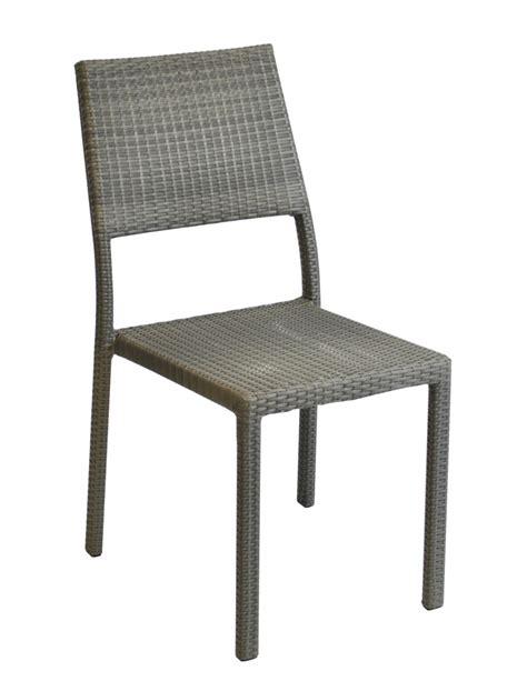 chaise tressée chaise manon résine tressée gris proloisirs chaises