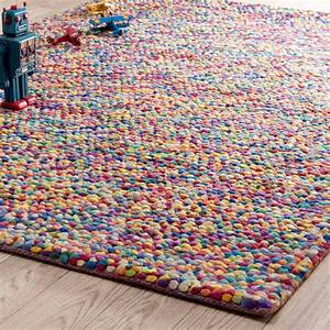 Tapis en laine multicolore 140 x 200 cm rainbow maisons for Tapis laine multicolore
