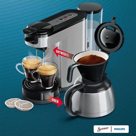 senseo filter für kaffeepulver de senseo hd7892 00 switch 2 in 1 kaffeemaschine
