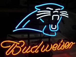 Wiki Neon Sign Blog Budweiser Bud Light NFL CAROLINA