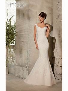 mori lee 5316 ivory silver lace fishtail wedding dress size 12 With fishtail wedding dresses