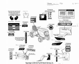 Troy Bilt 13wv78ks011 Bronco  2016  Parts Diagram For