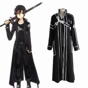 Sword Art Online Kirito Cosplay Costume Coat In Stock ...
