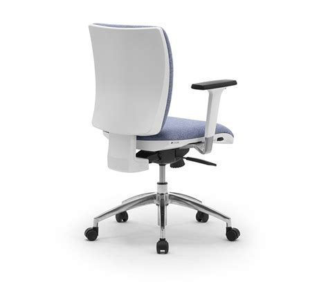 white or grey task office chairs with lumbar support leyform