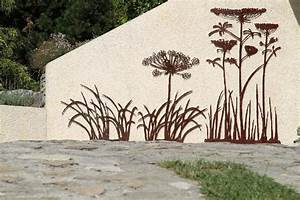 Decoration Jardin Metal : d coration murale m tal exterieur de d coration murale ~ Teatrodelosmanantiales.com Idées de Décoration