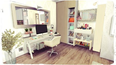 Sims 4 cc houses and lots: My Sims 4 Blog: YouTuber Bedroom - Room by DinhaGamer