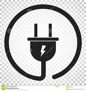 Plug Vector Icon  Power Wire Cable Flat Illustration