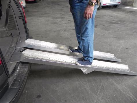 rampa aluminio par p subir cadeira de rodas carro pes