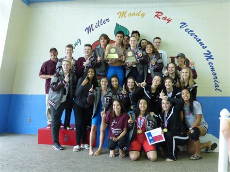 flour bluff isd fbhs boys girls swimming clinch regional title