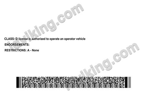 ohio  drivers license psd template