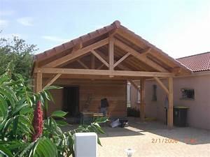 exterieur mcaossature bois menuiserie et charpente With amenagement de jardin photos 13 charpente