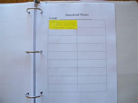 anecdotal notes anecdotal records