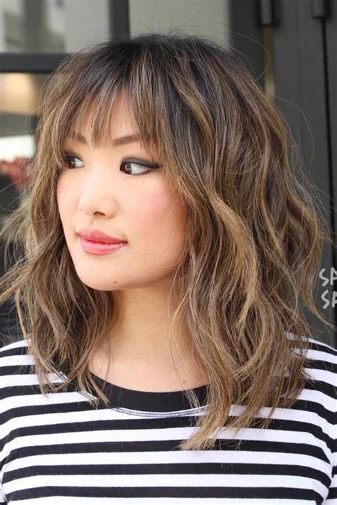 36 ideas for medium length hairstyles with bangs hair