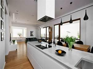 Große Wohnzimmer Lampe : wohnzimmer mit k che 34 moderne designs ~ Markanthonyermac.com Haus und Dekorationen