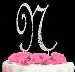 letter n cake topper wedding cake topper just jen With letter n cake topper